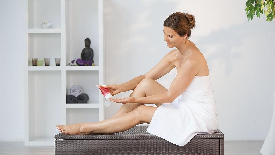 medi skin care woman leg