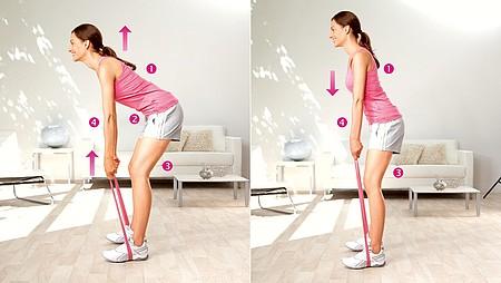 Inclinación del tronco: ejercicio para fortalecer los músculos de la zona lumbar