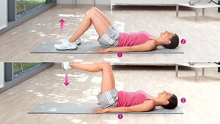 Elevación de piernas: Ejercicio para fortalecer los músculos abdominales inferiores y los flexores de cadera