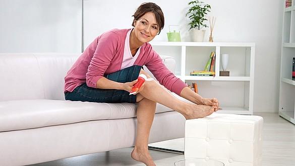 Productos para el cuidado de la piel que suavizan la terapia de compresión